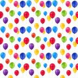 Tryckbakgrund av ballonger stock illustrationer