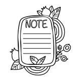 Tryckbar ` noterar `-klistermärken Royaltyfri Fotografi