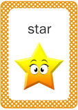 Tryckbart behandla som ett barn den Shape bildkortet, stjärna Arkivfoton
