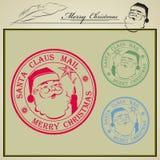 Tryckemail Santa Claus stock illustrationer