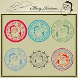 Tryckemail Santa Claus vektor illustrationer