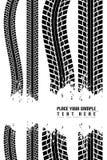 tryckgummihjulvektor Arkivbild