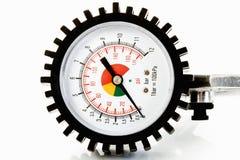 Tryckmätare manometer, lufttryck som mäter skalan Arkivfoto
