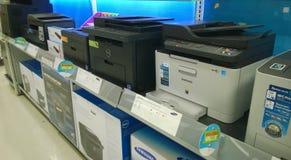 Tryckmaskin som säljer på lagret Arkivbild