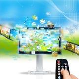 tryckning av televisionen Royaltyfria Bilder