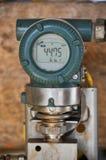 Trycksändare i fossila bränslenbransch för den övervakade processen, digital skärm av elektronisk utrustning, kontrollantutrustni Arkivfoto