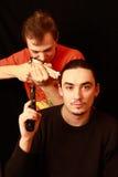 trycksprutagrabbar som leker två Fotografering för Bildbyråer
