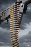trycksprutamaskinmilitären kriger vapen Fotografering för Bildbyråer