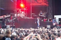 TrycksprutaN ro på Tuborg gröna Fest Royaltyfria Bilder
