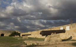 Trycksprutor av fästningväggen Royaltyfria Foton