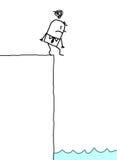 tryckt ned affärsman vektor illustrationer