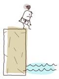 tryckt ned affärsman stock illustrationer
