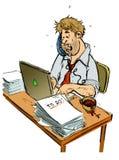 tryckt ned arbetare stock illustrationer