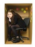 Tryckt ned kontorskvinna Fotografering för Bildbyråer