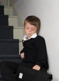 tryckt ned pojke Royaltyfri Fotografi