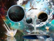 Tryckvåg av guden - Armageddon royaltyfri illustrationer