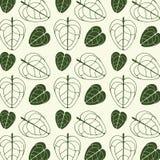 Tryckvektor som skrivar ut abstrakt mörkt - gröna sidor royaltyfri illustrationer