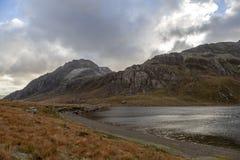 Tryfan και Llyn Idwal, Snowdonia στοκ εικόνες