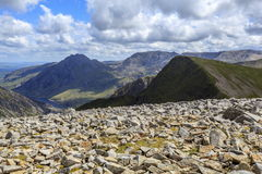 Tryfan and the Glyderau Stock Image