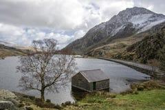 Tryfan Ogwen谷斯诺多尼亚北部威尔士 图库摄影