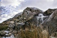 Tryfan Ogwen谷斯诺多尼亚北部威尔士 库存照片