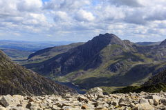 Tryfan and the Ogwen Valley Royalty Free Stock Image