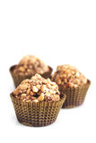 tryfflar för choklad tre Royaltyfri Foto