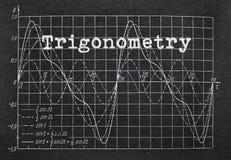 Trygonometria i wykres Obrazy Stock