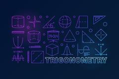 Trygonometria sztandar lub ilustracji