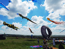 Tryhutty, Nikolaev, Ukraine - MAY 21, 2017: Tryhutty Internation. Al Kite Festival 2017 Royalty Free Stock Photography