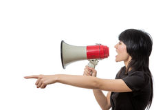 Trying to be heard Stock Images