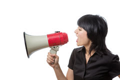Trying to be heard Royalty Free Stock Photos