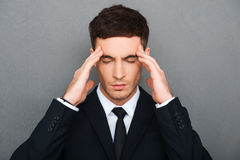 Trying to concentrate. Royalty Free Stock Photo