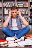 Trying To Concentrate On Studying. Stock Images