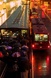 Trying to get Home during Rush Hour. A typical rainy rush hour scene from Bogota, Colombia Stock Photos
