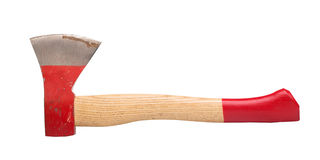 Trying to use the ax with red handle royalty free stock photos