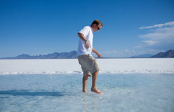 Trying to walk on Water Royalty Free Stock Image