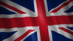 Trykotowa flaga Brytyjski ilustracja wektor