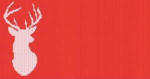 Trykotowa kierownicza jelenia sylwetka również zwrócić corel ilustracji wektora Zdjęcia Stock