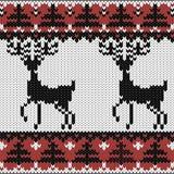 trykotowa nordic wzoru zima Zdjęcie Royalty Free