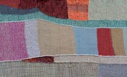 Trykotowa patchwork kołderka Zdjęcia Royalty Free