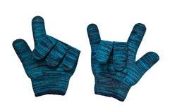 trykotowa rękawiczki wełna Obraz Stock
