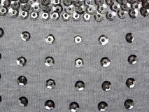 Trykotowa tkanina z cekinami Zdjęcie Stock
