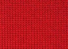 trykotowa tkaniny czerwień Fotografia Stock