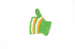 Trykotowe woolen rękawiczki, zim rękawiczki znakomite, dobry symbol Obrazy Stock