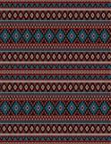 Trykotowego Indiańskiego dywanika Paisley ornamentu bezszwowy wzór Etniczny mandala druk ilustracji