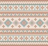 Trykotowego Indiańskiego dywanika Paisley ornamentu bezszwowy wzór Etniczny mandala druk royalty ilustracja