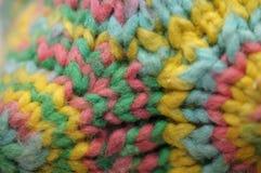 Trykotowego kolorowego przędza wieloboka projektanta tekstylna zabawka Obraz Stock