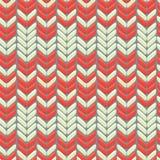 Trykotowego wełny colorfull bezszwowy wzór z ornamentem Zdjęcia Royalty Free