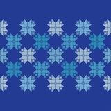 Trykotowi Norwescy płatki śniegu tło bezszwowy wektora Ludowi motywy pokrywa marznąca wzoru wektoru zima ilustracji